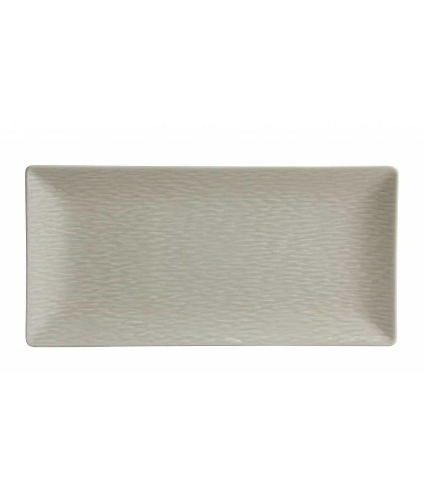 Stylepoint Aardewerk bord rechth. reliëf mat crème 30 x 15 cm 6 stuk(s)