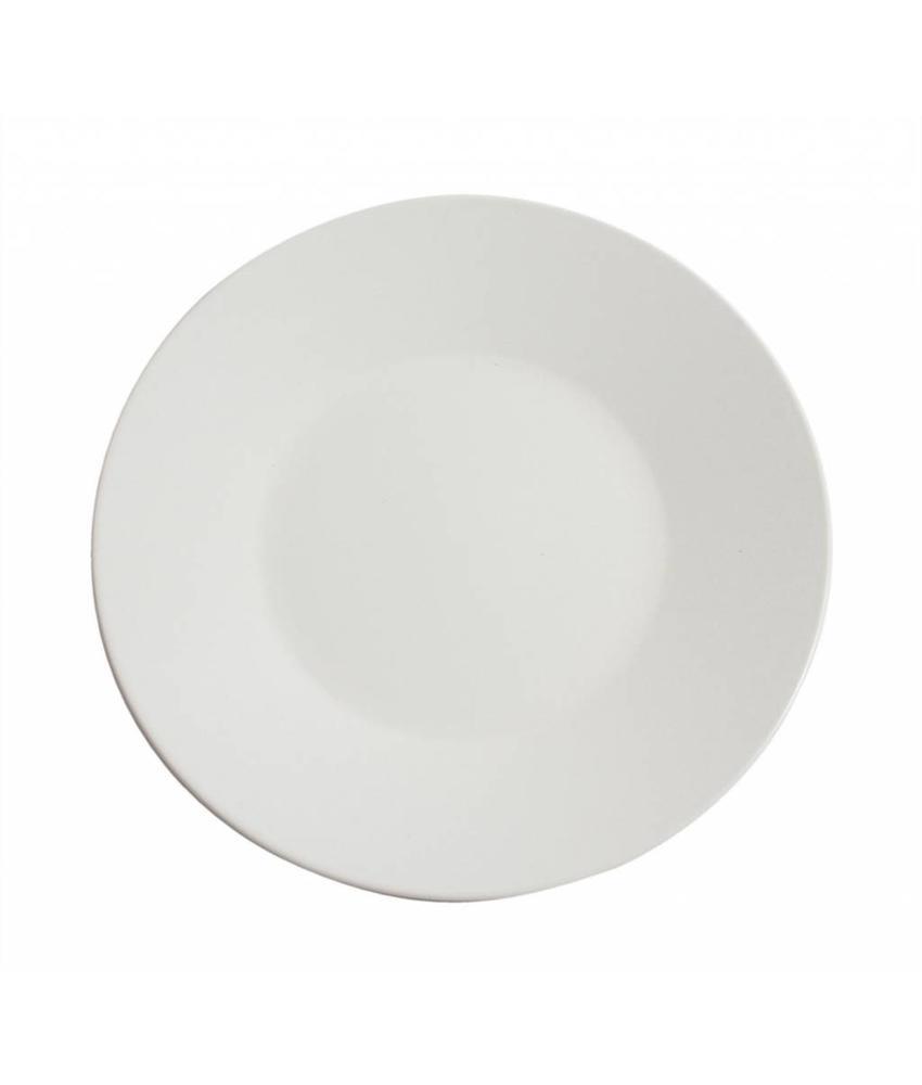 Stylepoint Aardewerk bord rond mat wit 30 cm 12 stuk(s)