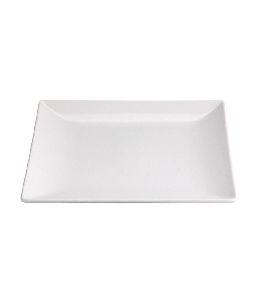Stylepoint Aardewerk bord vierkant mat wit 21 cm 12 stuk(s)