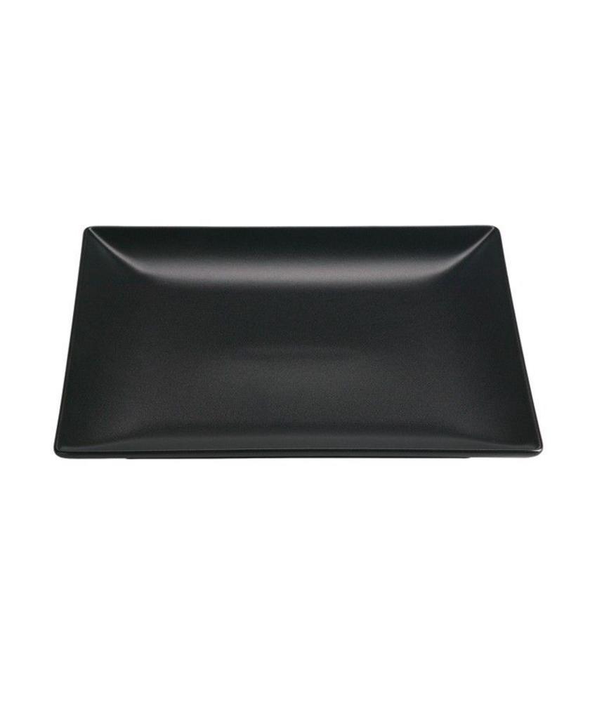 Stylepoint Aardewerk bord vierkant mat zwart 21 cm 12 stuk(s)