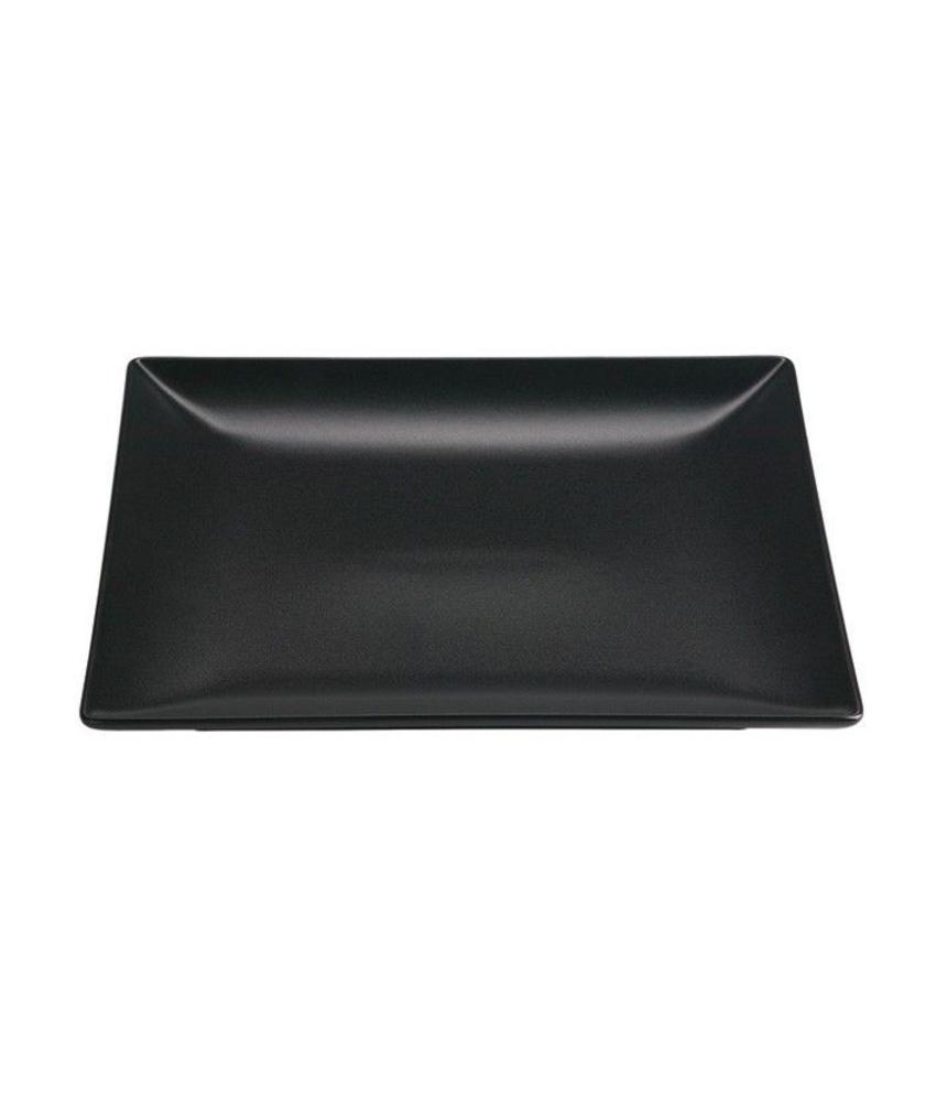 Stylepoint Aardewerk bord vierkant mat zwart 24 cm 12 stuk(s)