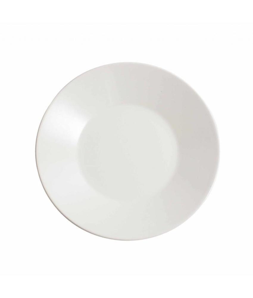 Stylepoint Aardewerk bord rond mat wit 21 cm 12 stuk(s)