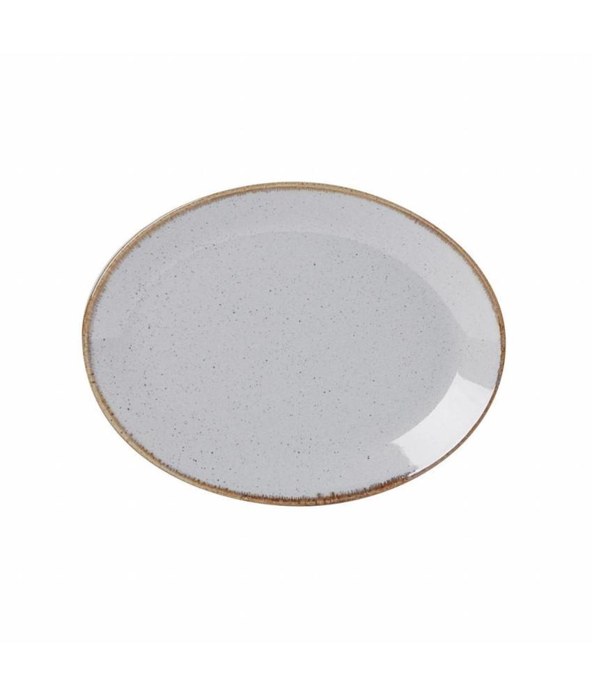 Porcelite Seasons Stone Ovaal bord Stone 30,5 cm 6 stuks