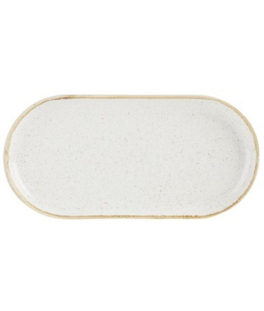 Porcelite Seasons Oatmeal Smal ovaal bord 30 cm ( 6 stuks)