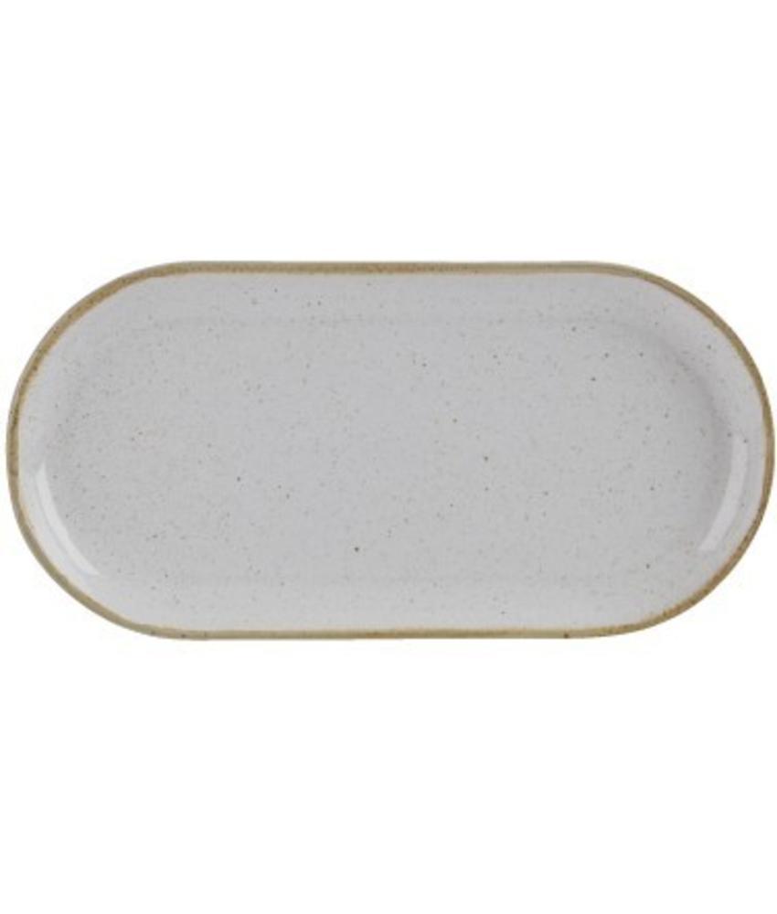 Porcelite Seasons Stone Smal ovaal bord Stone 30 cm 6 stuks