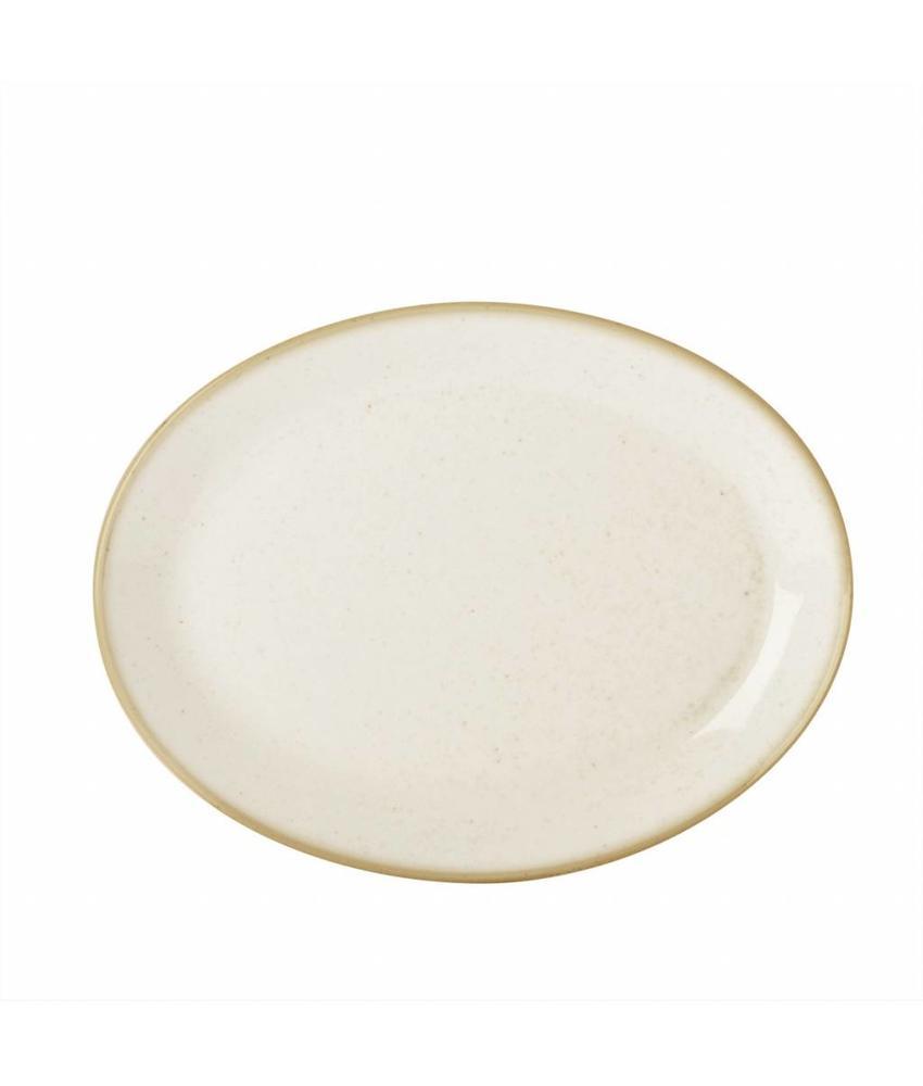 Porcelite Seasons Oatmeal Ovaal bord 30,5 cm ( 6 stuks)