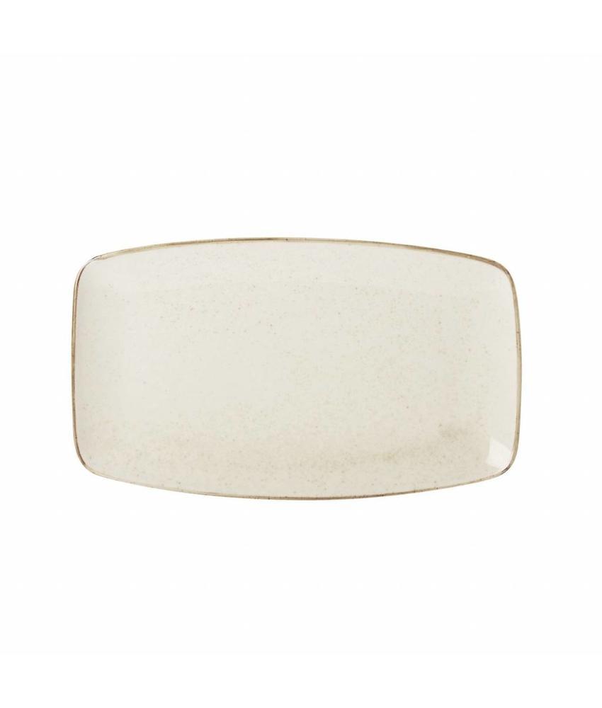 Porcelite Seasons Oatmeal Rechthoekig bord 31 x 18 cm ( 6 stuks)