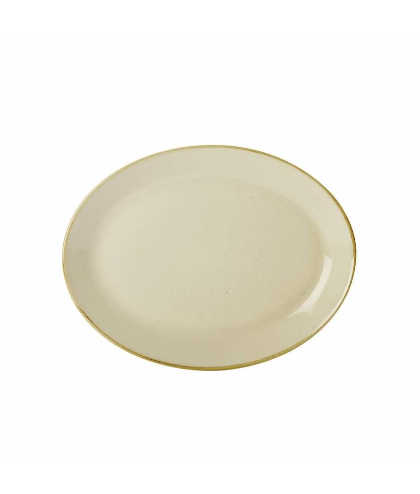 Porcelite Seasons Wheat Ovaal bord Wheat 30,5 cm 6 stuks