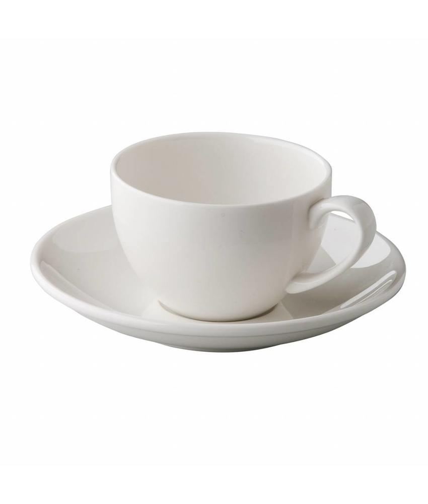 Q Fine China Alles-in-een QFC klassieke espressoschotel 12,5 cm 6 stuks