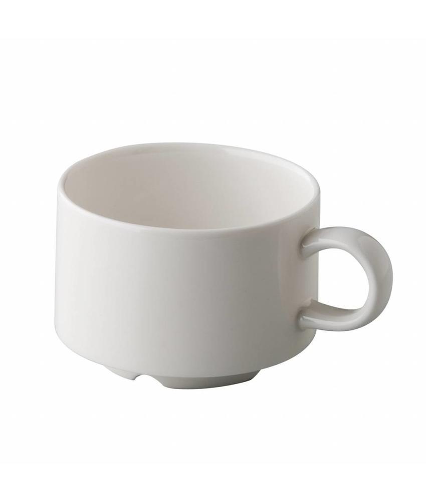 Q Fine China Stapelbare koffiekop 165 ml ( 6 stuks)