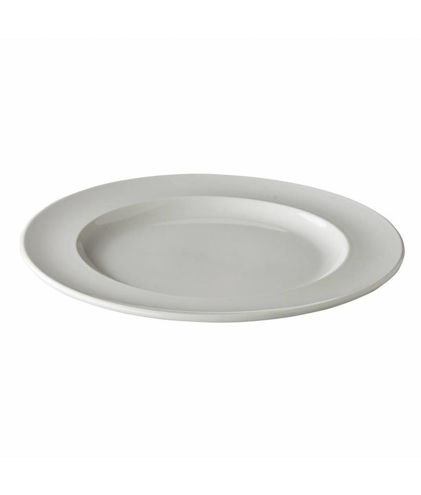 Simply Simply bord met brede rand 16 cm 6 stuks
