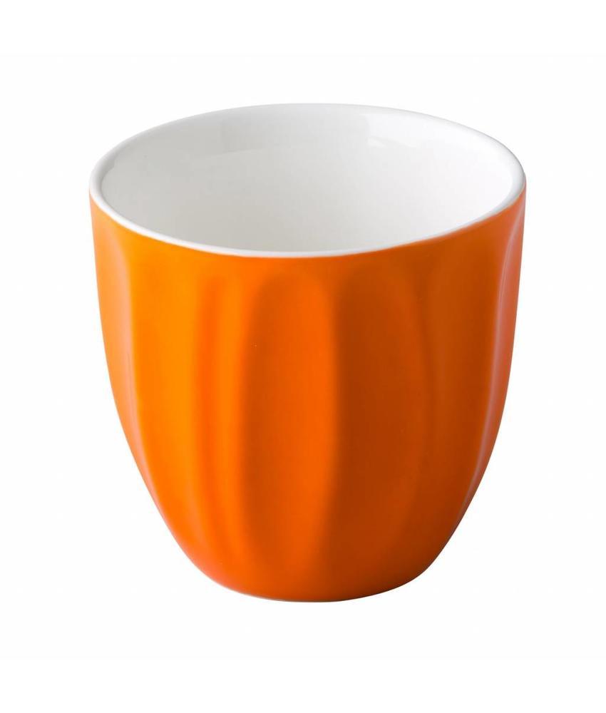Stylepoint Coffeepoint stapelbare koffiekop oranje 180 ml 6 stuks