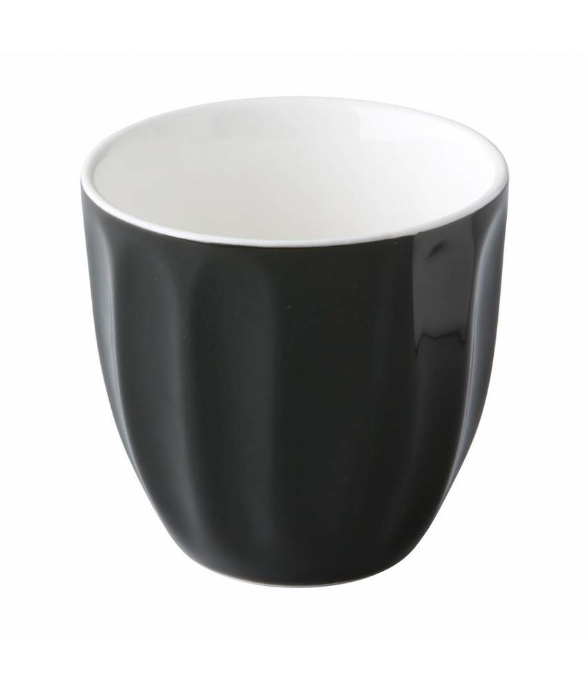 Stylepoint Coffeepoint stapelbare koffiekop zwart 180 ml 6 stuks