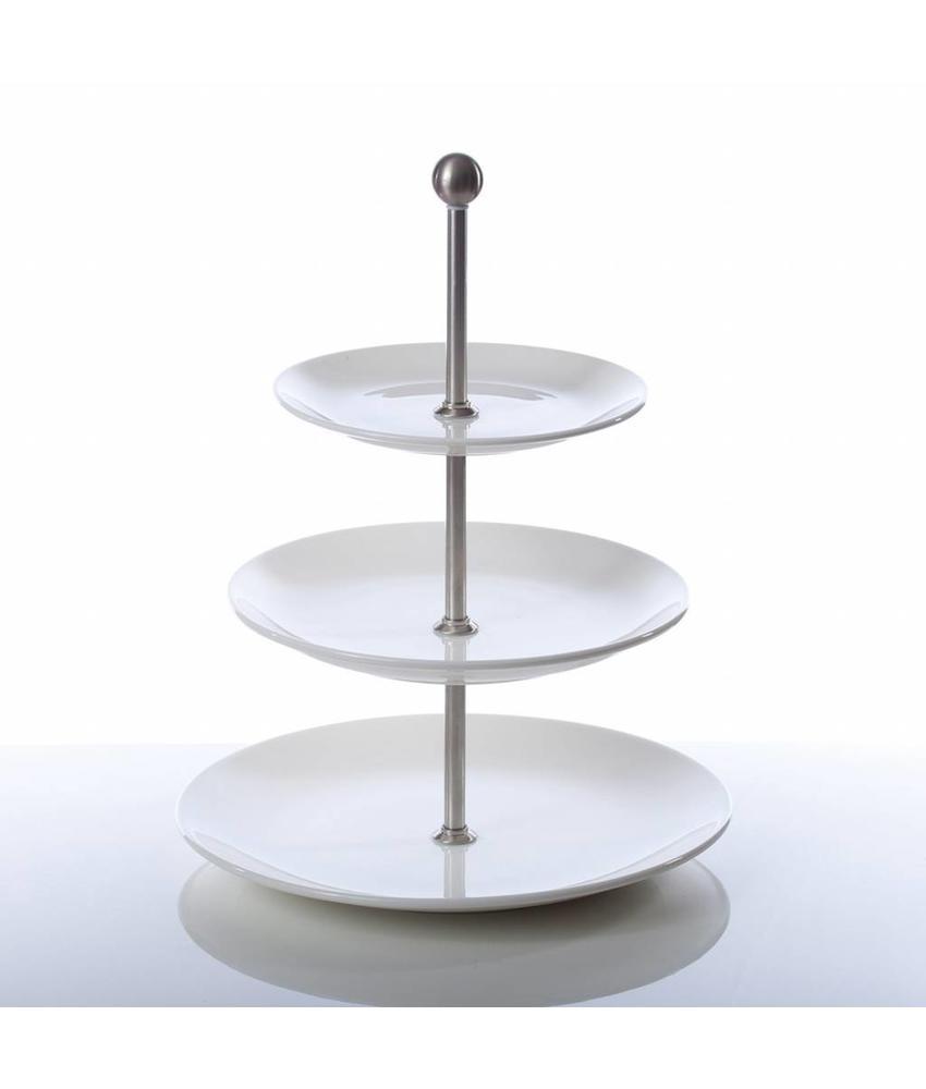 Q Fine China Alles-in-een Etagère 3 borden coupe 26 / 21,6 / 16,5 cm