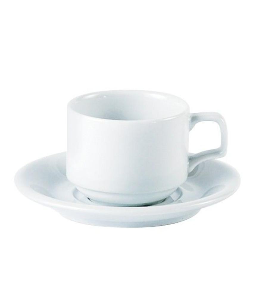 Porcelite Standard stapelbare koffiekop 200 ml 6 stuks
