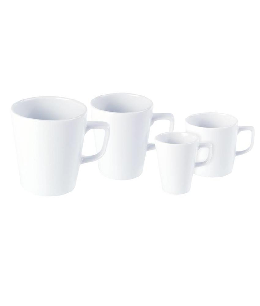 Porcelite Standard conische mok 220 ml ( 6 stuks)