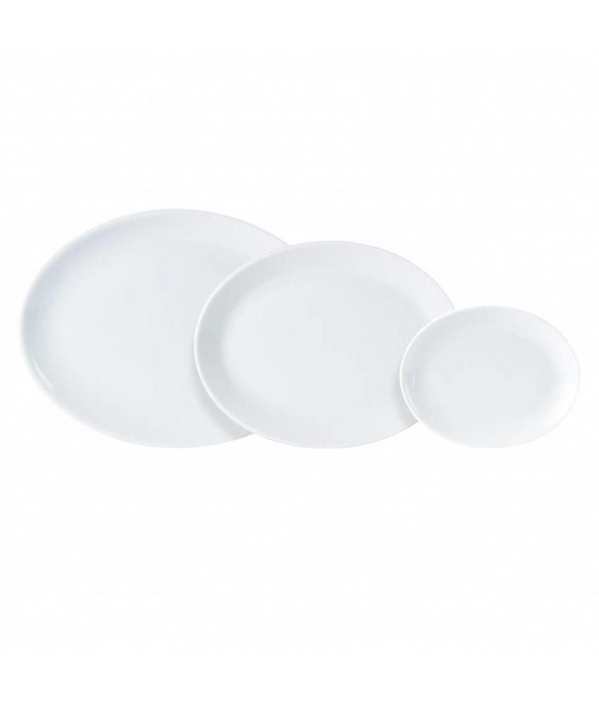 Porcelite Standard ovaal bord ( 6 stuks)