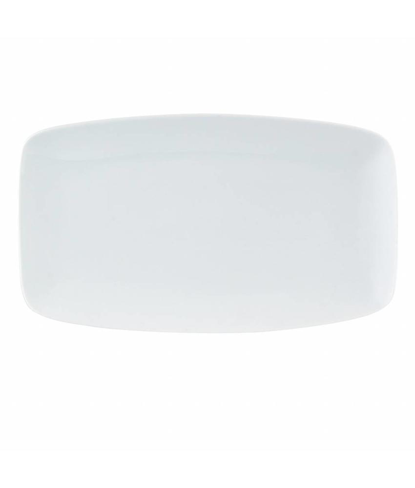 Porcelite Standard rechthoekige schaal 31 x 18 cm ( 6 stuks)