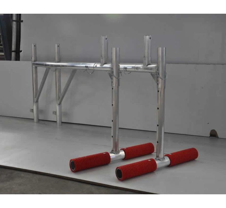 Dakconsole set compleet 135 ( 2 steunen + verlengstuk ) voor 1 of 2 platform breed
