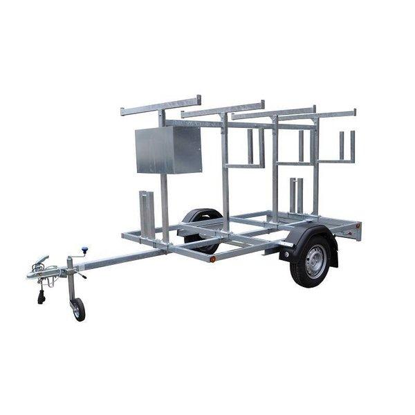 Maandactie: Steigeraanhanger voor het vervoeren van rolsteigers met lengtemaat tot 250 cm