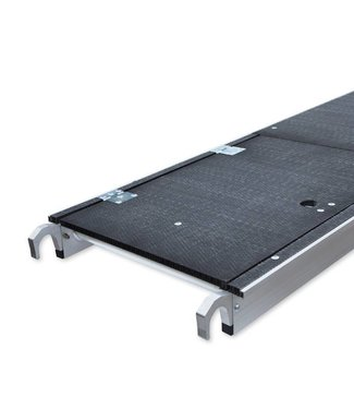 Platform carbon met luik 250 cm