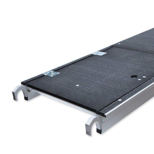 Lichtgewicht platform met luik 400 cm