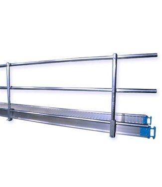 Leuning voor werkbrug 8 meter
