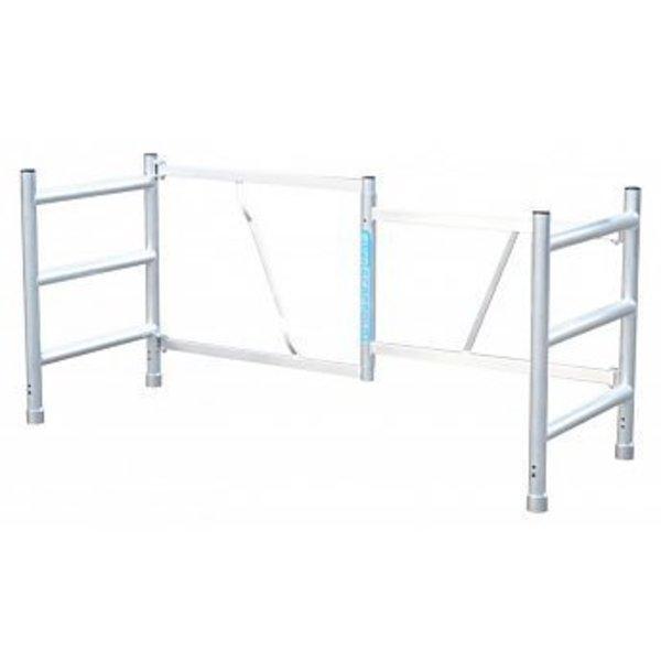 Opzetstuk kamersteiger 1 meter + wielen + platform zonder luik+ 5 x borgclip