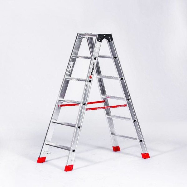 Lichtgewicht dubbele trap 2x8 treden