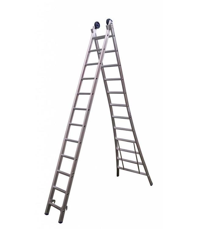 Tweedelige ladder 2x8 Maxall blank