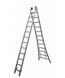 Tweedelige ladder 2x8 Maxall geanodiseerd