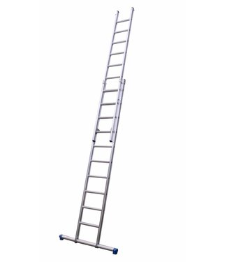 Maxall Tweedelige ladder 2x10 Maxall recht met stabiliteitsbalk