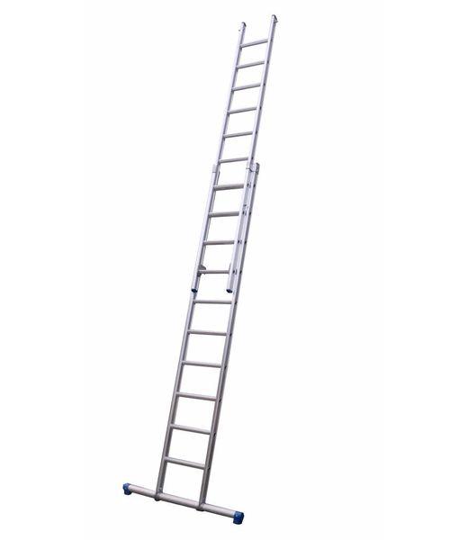 Maxall Tweedelige ladder 2x12 Maxall recht met stabiliteitsbalk