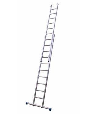 Maxall Tweedelige ladder 2x14 Maxall recht met stabiliteitsbalk