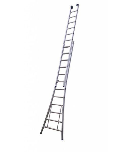 Maxall Tweedelige ladder 2x16 Maxall geanodiseerd