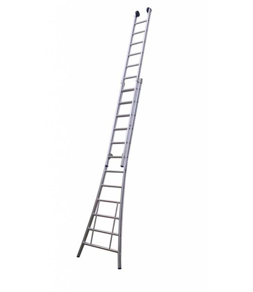 Maxall Tweedelige ladder 2x18 Maxall geanodiseerd