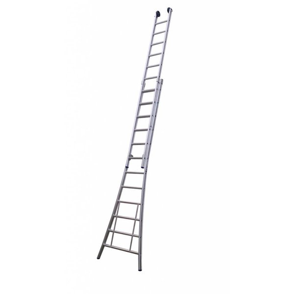 Tweedelige ladder 2x18 Maxall blank I 9.50 meter