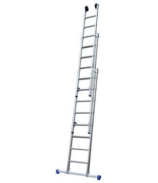 Maxall Driedelige ladder 3x10 Maxall recht met stabiliteitsbalk