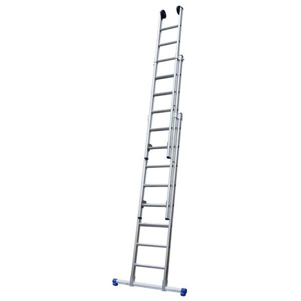 Driedelige ladder 3x10 Maxall recht met stabiliteitsbalk