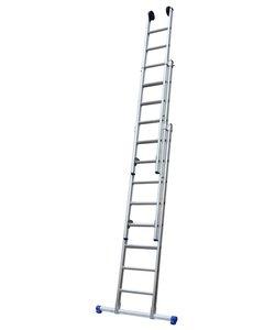 Driedelige ladder 3x14 Maxall recht met stabiliteitsbalk