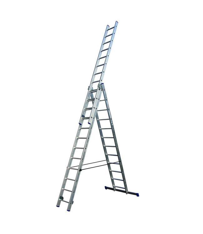 Zeer Driedelige ladder 3x12 voor doe-het-zelf gebruik - LadderHulp.nl VU76