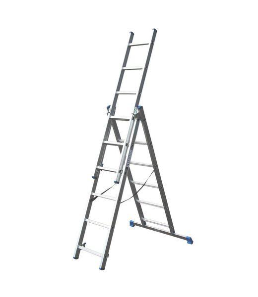 Driedelige ladder 3x6 DHZ