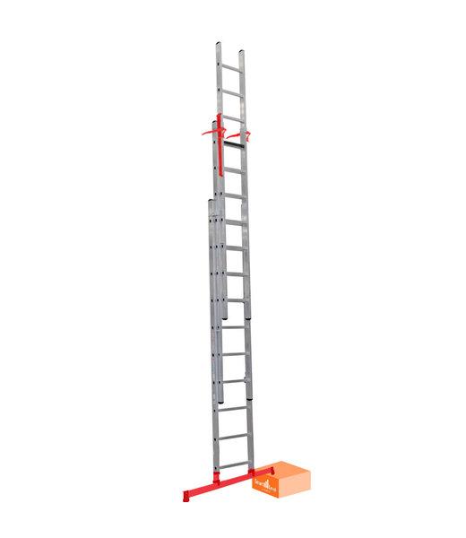 3 x 8 Smart Level & Top Safe Professionele schuifladder