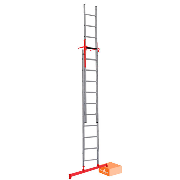 Tweedelige ladder Smart Level en Top Safe 2 x 14 I 7.30 meter
