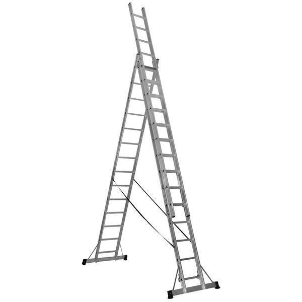Driedelige reformladder met Top Safe 3 x 12