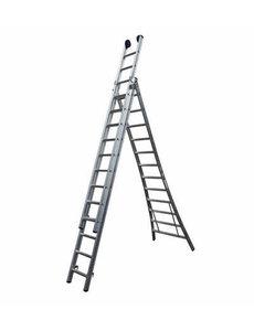 Driedelige ladder Premium 3x10  | 7.25 meter