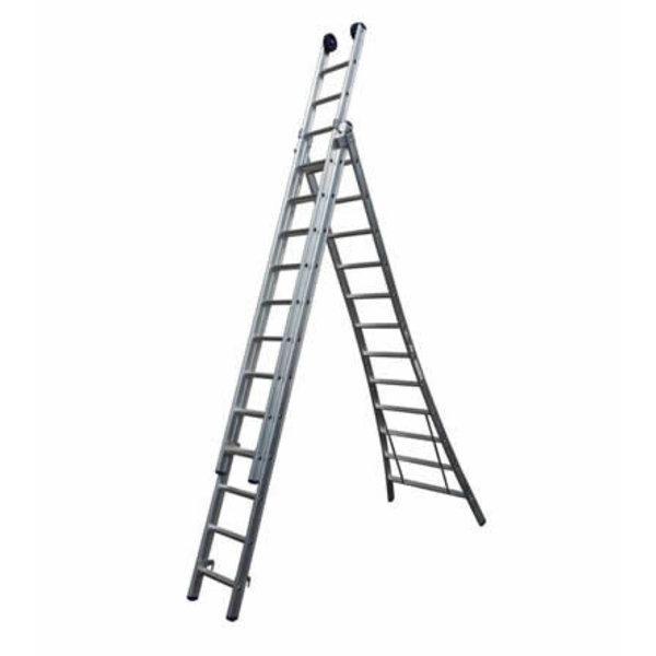 Driedelige ladder Basic 3x12 | 8.75 meter