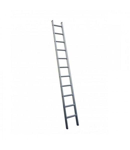 Enkele ladder 1x14 Maxall recht met stabiliteitsbalk