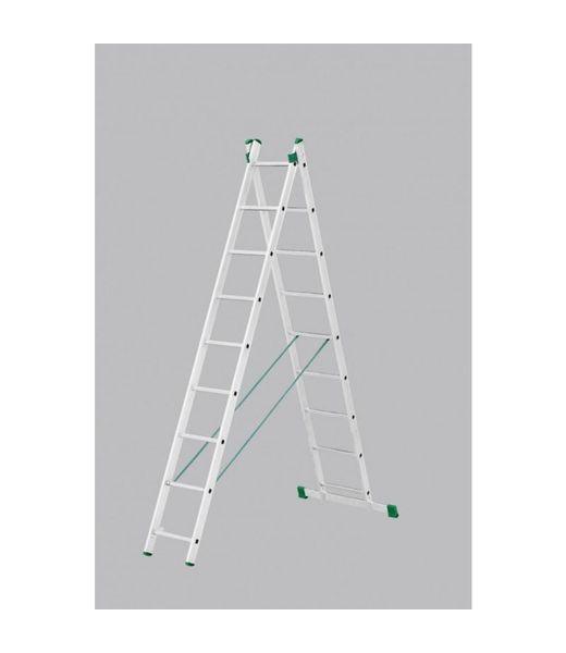 Tweedelige ladder 2x9 Basic-Line Maxall