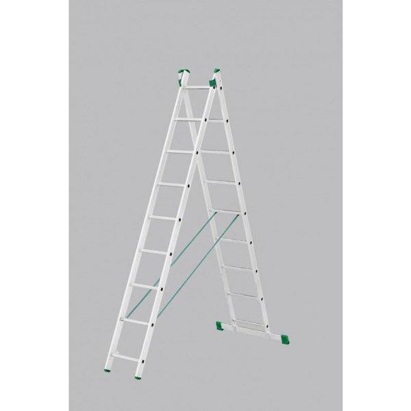 Tweedelige ladder 2x11 Basic-Line Maxall